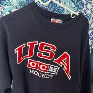 Urban outfitters oversized hockey crew neck